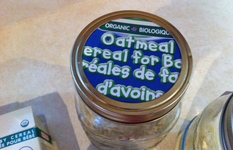 Cereal jar label. www.yourperfectspace.ca